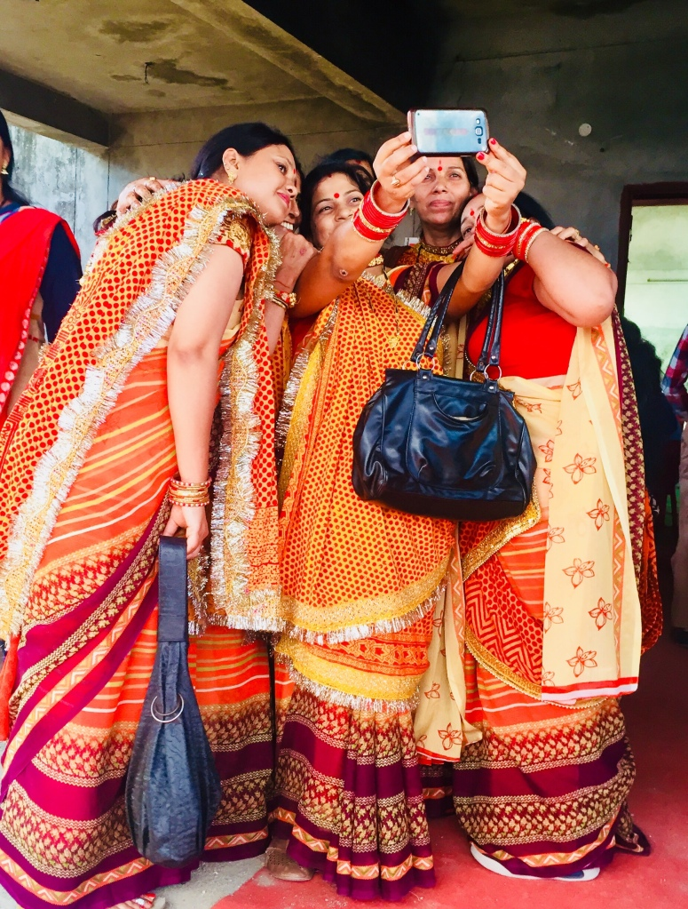 Kumaoni ladies taking a selfie in pichora